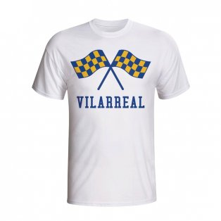 Villarreal Waving Flags T-shirt (white) - Kids