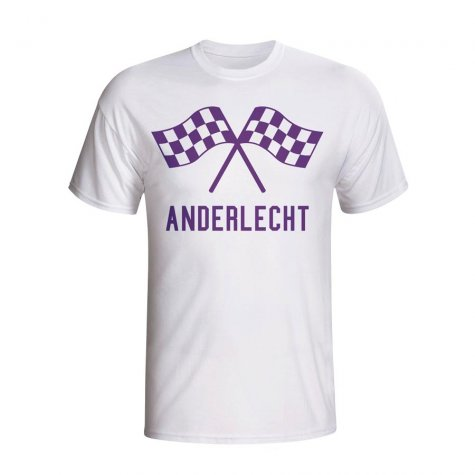 Anderlecht Waving Flags T-shirt (white) - Kids