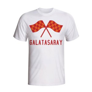Galatasaray Waving Flags T-shirt (white)