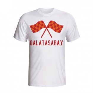 Galatasaray Waving Flags T-shirt (white) - Kids