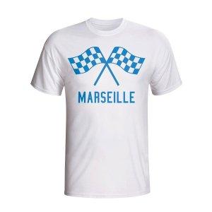 Marseille Waving Flags T-shirt (white) - Kids