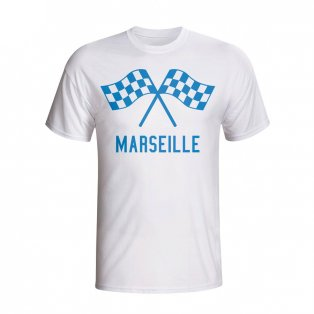 Marseille Waving Flags T-shirt (white) - Kids
