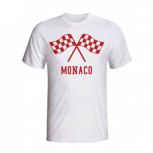 Monaco Waving Flags T-shirt (white) - Kids