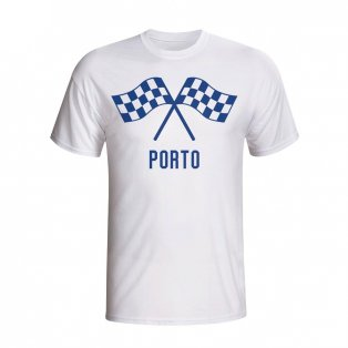 Porto Waving Flags T-shirt (white) - Kids