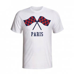 Psg Waving Flags T-shirt (white) - Kids