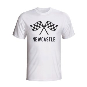 Newcastle Waving Flags T-shirt (white) - Kids