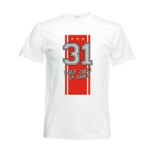 2012 Ajax Champions T-Shirt (White)