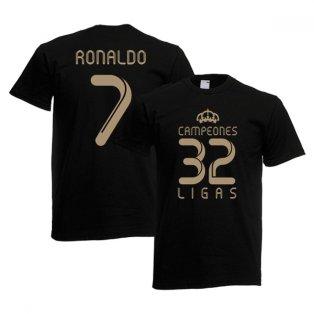 2012 Real Madrid Champions T-Shirt (Black) - Ronaldo 7