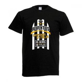 2012 Juventus Champions T-Shirt (Black)