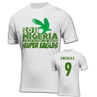 2013 Nigeria CAF Winners T-Shirt (White) - Emenike 9