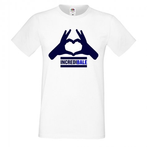 Gareth Bale Incredibale T-Shirt (White) - with number