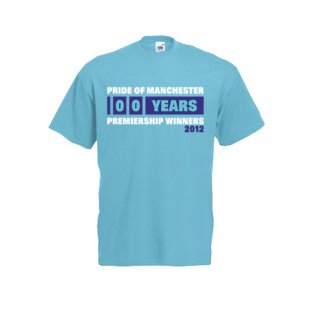 2012 Manchester City Premiership Winners T-Shirt (Blue)