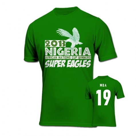 2013 Nigeria CAF Winners T-Shirt (Green) - Mba 19