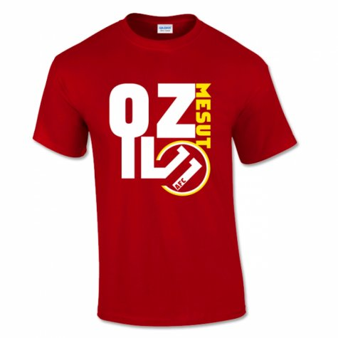Mesut Ozil Arsenal Front T-Shirt (Red)