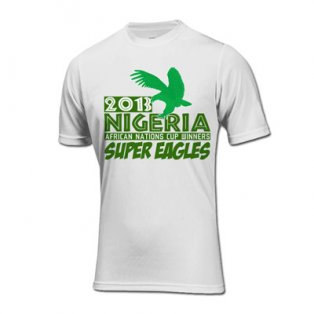 2013 Nigeria African Nations Winners T-Shirt (White)