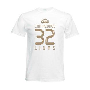 2012 Real Madrid Champions T-Shirt (White)
