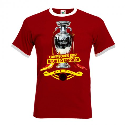 Spain Euro 2012 Winners T-Shirt (Red)