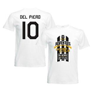 2012 Juventus Champions T-Shirt (White) - Del Piero 10
