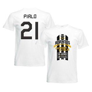 2012 Juventus Champions T-Shirt (White) - Pirlo 21