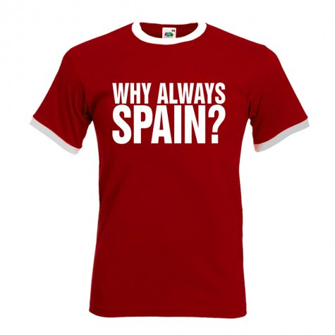why always spain football t shirt red tshirtredkids