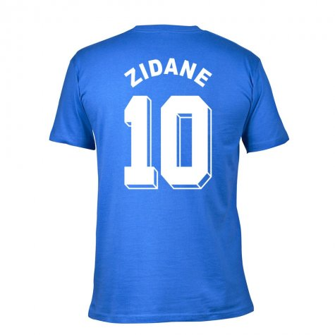 Zidedine Zidane France 1998 Home T-Shirt (Blue)