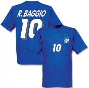Roberto Baggio Italy 1994 Home T-Shirt (Blue)