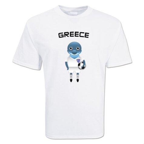 Greece Mascot Soccer T-shirt