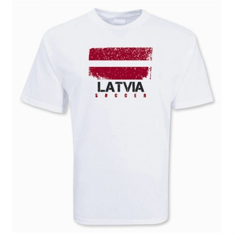 Latvia Soccer T-shirt