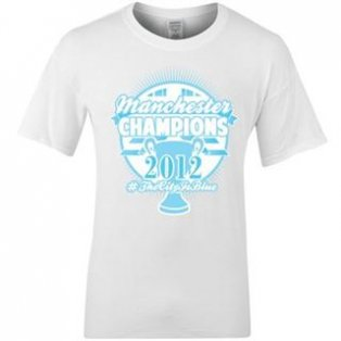2012 Man City Champions Winners T-Shirt (White)
