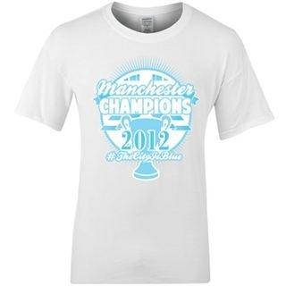 2012 Man City Champions Winners T-Shirt (White)