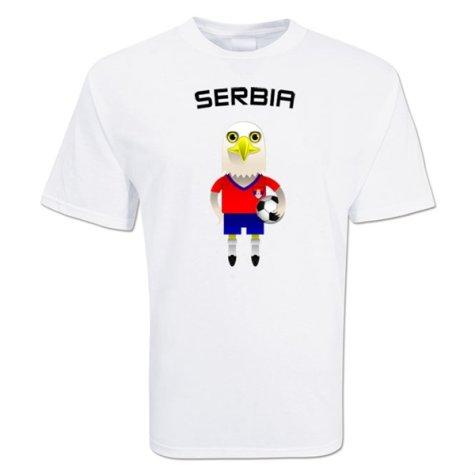 Serbia Mascot Soccer T-shirt