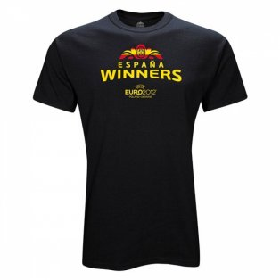 Spain Euro 2012 Winners T-Shirt (Black)