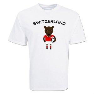 Switzerland Mascot Soccer T-shirt