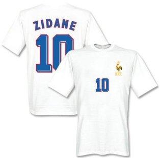 Zidedine Zidane France 1998 Away T-Shirt (White)