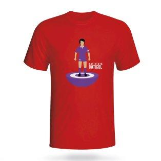 Gabriel Batistuta Fiorentina Subbuteo Tee (red) - Kids