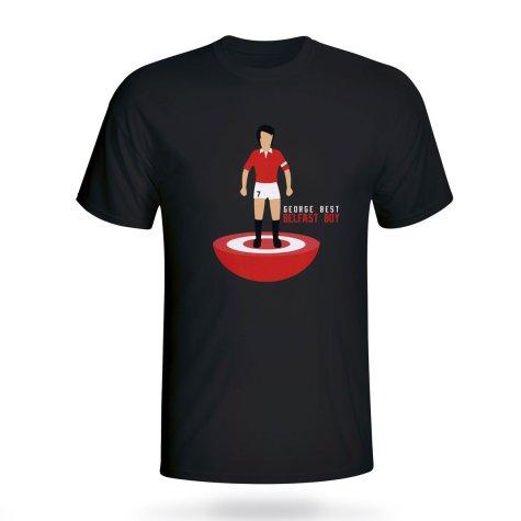 George Best Man Utd Subbuteo Tee (black) - Kids
