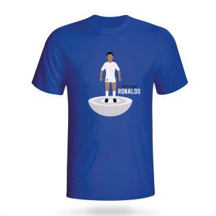 Cristiano Ronaldo Real Madrid Subbuteo Tee (blue)