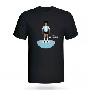 Diego Maradona Argentina Subbuteo Tee (black)