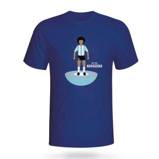 Diego Maradona Argentina Subbuteo Tee (navy)