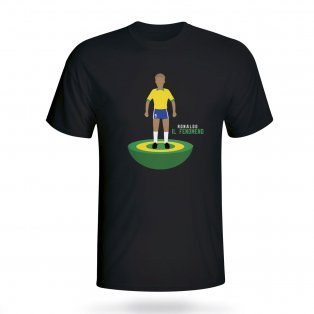 Ronaldo Brazil Subbuteo Tee (black) - Kids