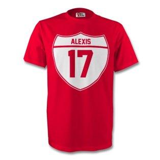 Alexis Sanchez Arsenal Crest Tee (red)