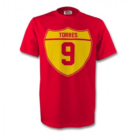 Fernando Torres Spain Crest Tee (red) - Kids