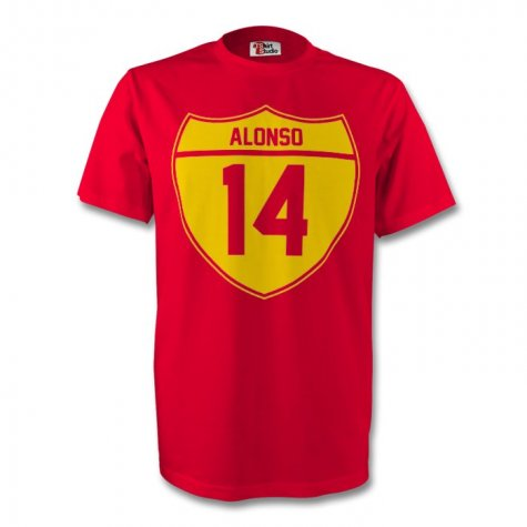 Xabi Alonso Spain Crest Tee (red)