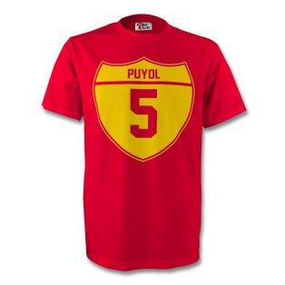 Carlos Puyol Spain Crest Tee (red) - Kids