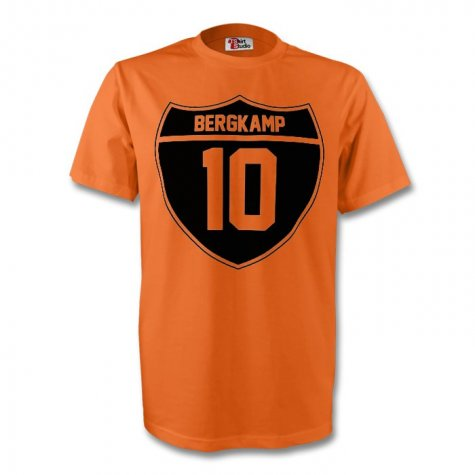 Dennis Bergkamp Holland Crest Tee (orange) - Kids