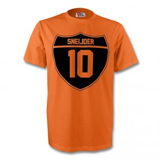 Wesley Sneijder Holland Crest Tee (orange) - Kids
