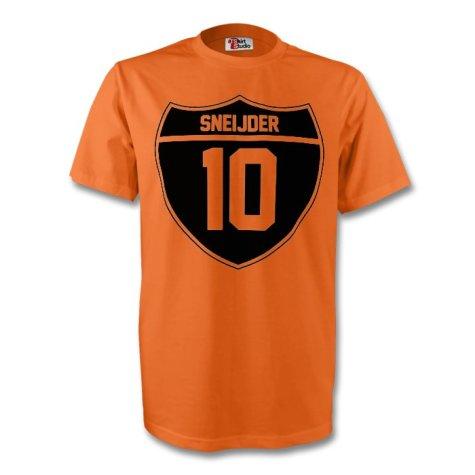 Wesley Sneijder Holland Crest Tee (orange) - Kids