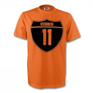 Arjen Robben Holland Crest Tee (orange) - Kids