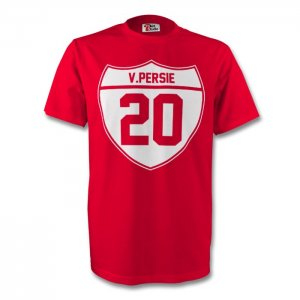 Robin Van Persie Man Utd Crest Tee (red)