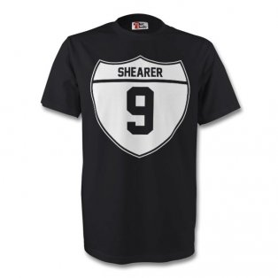 Alan Shearer Newcastle Crest Tee (black) - Kids
